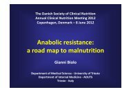 Anabolic resistance: a road map to malnutrition