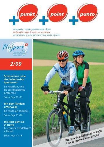+punkt 2/2009 (pdf, 6.1MB) - PLUSPORT Behindertensport Schweiz