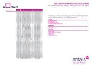 UK Large Format Materials for UV Inks - Antalis