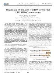 Modeling and Simulation of MISO Diversity for UHF - IMCSIT ...