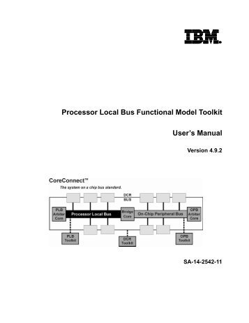 Processor Local Bus Functional Model Toolkit User's Manual