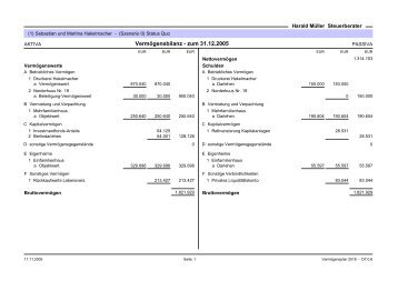 Musterauswertung 3 - Harald Müller, Steuerberater