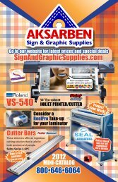 Download Mini Catalog - Aksarben Sign & Graphic Supply