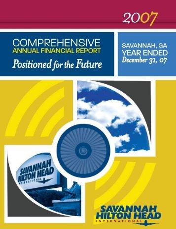 2007 Financial Report - Savannah International Airport