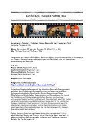 Überblick Programm - FilmInitiativ Köln eV