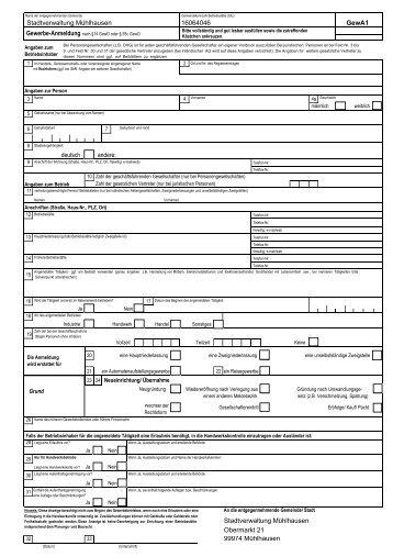Gewerbe-Anmeldung (*.pdf 903 KB) - Mühlhausen