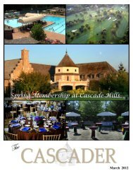 Spring Membership at Cascade Hills - Cascade Hills Country Club