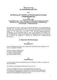 Friedhofssatzung - Satzung der Stadt Mühlhausen über die Nutzung