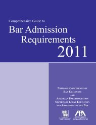 Comprehensive Guide to Bar Admission Requirements 2011