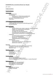 Geschäftsplan Beispiel und Muster 02 - Existenzgruendung24.com