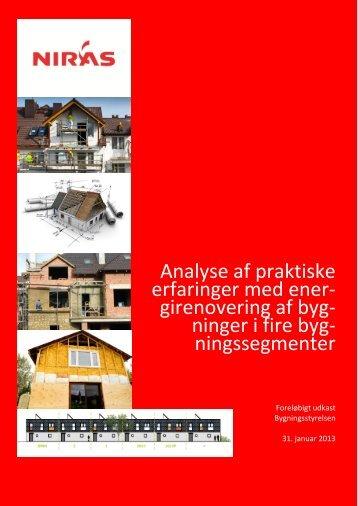 Analyse af praktiske erfaringer med ener- girenovering af byg ...