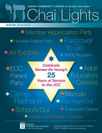 Chai Lights Program Guide - JCC of Greater Ann Arbor