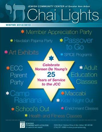 Chai Lights Program Guide - JCC of Greater Ann Arbor