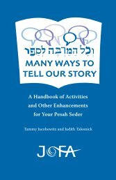 A Handbook of Activities and Other Enhancements for Your Pesah Seder