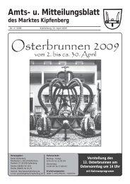 Amts- u. Mit tei lungs blatt - Kipfenberg in Bayerns Mitte
