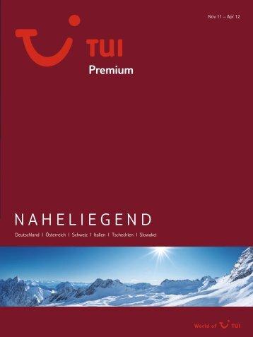 TUI - Premium: Naheliegend - Winter 2011/2012 - Letenky.sk