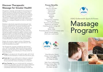 Massage Brochure   USAG Grafenwoehr