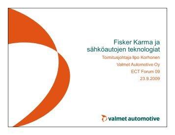 Fisker Karma ja sähköautojen teknologiat - EIS