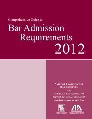 Comprehensive Guide to Bar Admission Requirements 2012