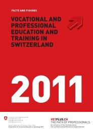 VOCATIONAL AND PROFESSIONAL EDUCATION AND TRAINING IN
