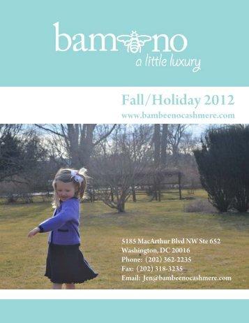 Fall 2012 Linesheets - Nicky Rose Kids