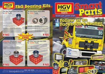 FAG Bearing Kits Follow us on Facebook & Twitter ... - HGV Direct