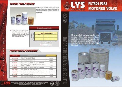 FILTROS PARA MOTORES VOLVO - LYS Filtros