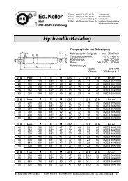 Hydraulik-Katalog - Ed. Keller AG, Kirchberg