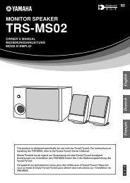 TRS-MS02 Owner's Manual - Yamaha