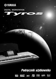 Tyros Owner's Manual - Yamaha