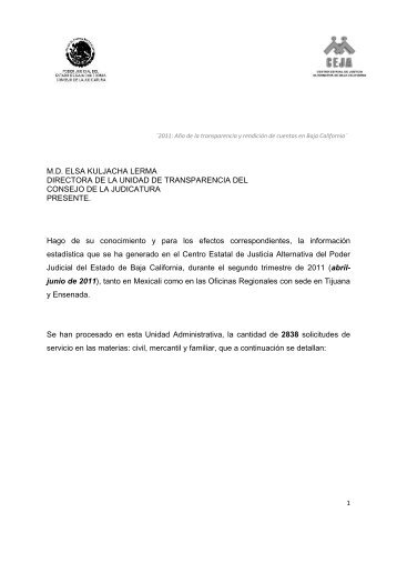 Segundo trimestre - Transparencia - Poder Judicial del Estado de ...
