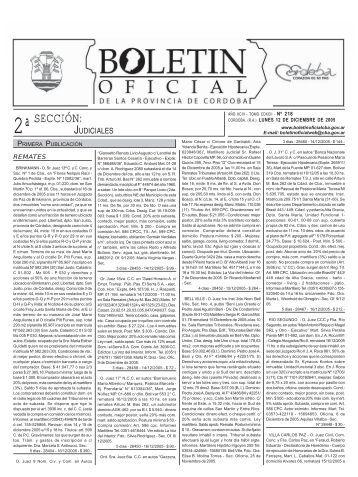 SECCIÓN: - Boletín Oficial