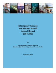 Interagency Oceans and Human Health Annual ... - Index of - NOAA