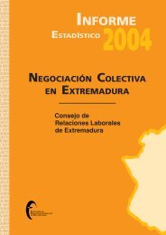 informe nncc extremadura 2004 - Fundación de Relaciones Laborales