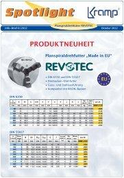 REVOTEC Infobrief 2012 - Spanntechnik   BISON Drehfutter