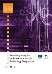 Feasibility study for an Estonian Materials Technology Programme
