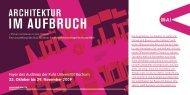 Foyer des Audimax der Ruhr Universität Bochum 23. Oktober ... - M:AI