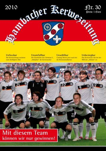Mit diesem Team - Hambacher Brennesselkerwe