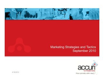 Marketing Strategies and Tactics September 2010