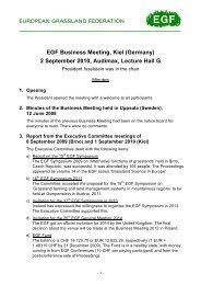 EGF Business Meeting, Kiel (Germany) 2 September 2010, Audimax ...
