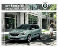 New Škoda Fabia Limousine/Combi/RS - J.H. Keller AG