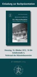 Einladung zur Buchpräsentation - Freiburger Münsterbauverein