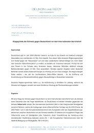 Die Klagegründe der Schweiz gegen Deutschland - Fortbildung für ...
