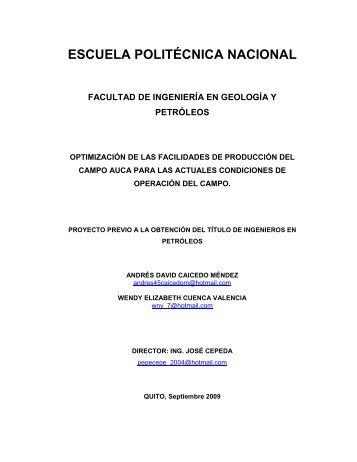 capítulo i descripción del campo auca - Repositorio Digital EPN ...