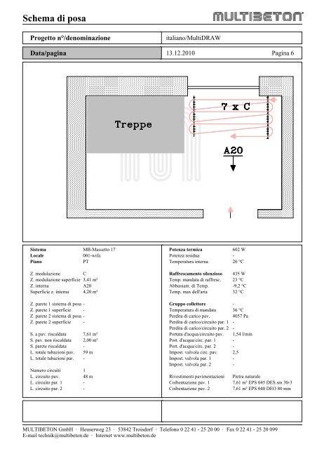 Modello di progetto - Multibeton