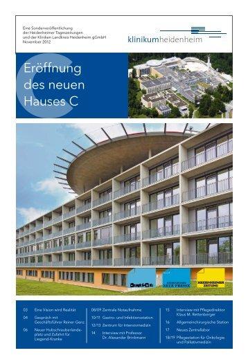 Eröffnung des neuen Hauses C - Kliniken Landkreis Heidenheim ...
