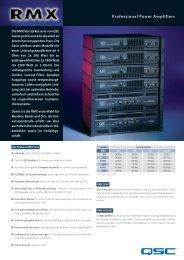 RMX Serie Datenblatt - QSC Audio Products