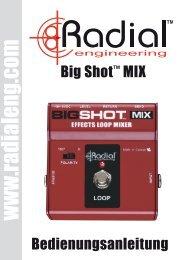 Radial Bigshot MIX Manual Deutsch - Musik Produktiv