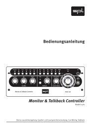 Bedienungsanleitung Monitor & Talkback Controller - Musik Produktiv