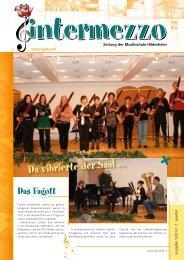 Da vibrierte der Saal … - in der Musikschule  Hildesheim